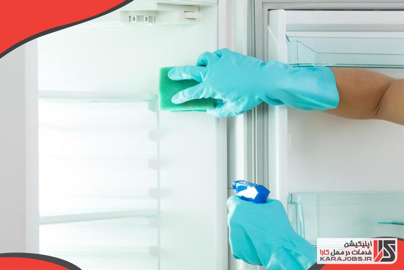 تمیز کردن یخچال-خانه تکانی آشپزخانه